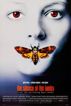 Silence des Agneaux (Silence of the Lambs) 1991 - Jonathan Demme - Anthony Hopkins / Jodie Foster / Scott Glenn Classic Movie Posters, Horror Movie Posters, Cinema Posters, Classic Films, Film Posters, Horror Movies, Art Posters, Original Movie Posters, Famous Movie Posters