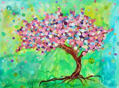 Mixed Media Collage by Lisa Morales - The Blessing Tree - www.lisamoralesmixedmedia.com