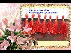 HOW TO MAKE A SIMPLE KUCHU / TASSELS FOR SAREES AND SHAWLS - YouTube