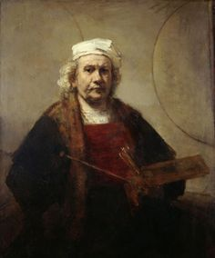Self portrait with two circles, Rembrandt Harmensz. van Rijn, c. 1665-1669