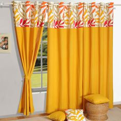Gold Yellow Solid Curtains- Unleash the seasonal change as you dress your windows and doors with these nature inspired curtains, showcasing the beauty of nature at its best. Cute Curtains, Drapes Curtains, Windows And Doors, Home Accessories, Blinds, Interior Decorating, Flooring, Yellow, Simple