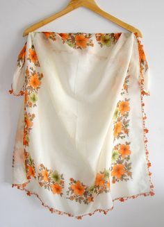 15 OFF SALE Orange  Scarf Original Anatolian Yemeni scarf by seno, $25.00