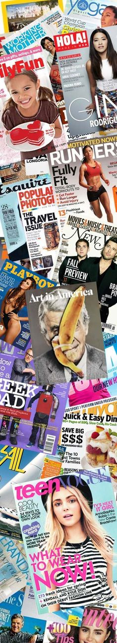 38 FREE Magazines Today: Art in America, Playboy, Hola, Teen Vogue, Marie Claire, Weight Watchers, Bicycling, Forbes, WIRED, Family Fun, Flying, Redbook, Yoga Digest, Bowhunt America, Car And Driver, This Old House, Sail, Ebony, Clay Times, Tennis, Family Circle, Popular Mechanics, Maxim, Whitetail Journal, Parents, Esquire, Seventeen, Good Housekeeping, Oprah, Veranda, ESPN, GQ, Better Homes and Gardens, Wine Spectator, US Weekly, Western Horseman And Town & Country
