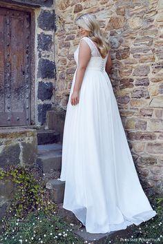 plus size perfection bridal 2016 cap sleeves thick straps sweetheart illusion jewel a line lace bodice wedding dress (lee) bv corset back train romantic elegant