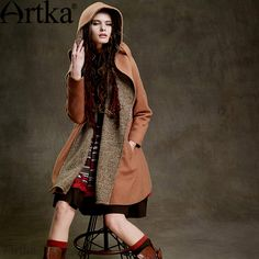 Cheap Wool & Blends on Sale at Bargain Price, Buy Quality woolen coat, coat vintage, vintage coat from China woolen coat Suppliers at Aliexpress.com:1,Collar:Hooded 2,Gender:Women 3,Type:Cloak 4,Brand Name:Artka 5,Pattern Type:Patchwork