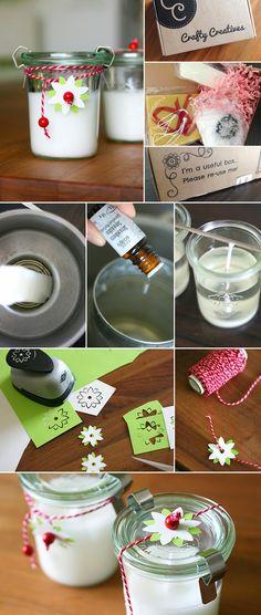 Gingered Things, DIY, candels, decoration, guest present, flower punch, Geschenk, Kerze, Deko, Stanzen, Sommer