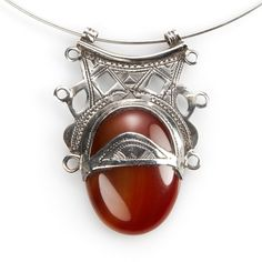 Pandantiv tuareg, argint și carneol, Sahara #metaphora #pendant #silverjewelry #carnelian #sahara Gemstone Rings, Gemstones, Jewellery, Fashion, Moda, Jewels, Gems, Fashion Styles, Schmuck
