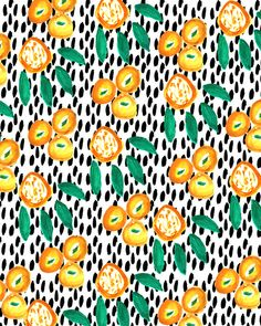 Citrus and Leaves II by Bouffants And Broken Hearts (society6)