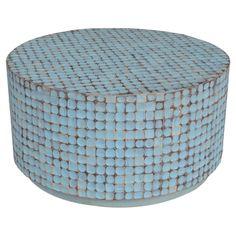 CASSIA TEAK COFFEE TABLE IN BLUE