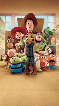 Toy Story and Toy Story 2 are my favorite Pixar movies, so it shouldn't be hard to believe that Toy Story 3 was the movie I was looking forw. Disney Pixar, Disney Art, Cartoon Wallpaper, Disney Wallpaper, Chucky, Pixar Movies, Disney Movies, Pixar Characters, Toy Story 3 Movie
