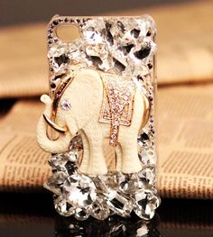 White Elephant Cute iPhone 4S Cases For Girls
