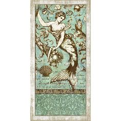 Vintage Signs Drift Mermaid 2 Wall Art by Suzanne Nicoll Graphic ...