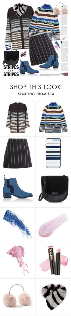"""""""Stripes on Stripes"""" by ellie366 ❤ liked on Polyvore featuring Kirei, Missoni, Alexander Wang, Kate Spade, Pierre Hardy, Eyeko, Lipstick Queen, Bésame, Charlotte Simone and Yves Saint Laurent"""