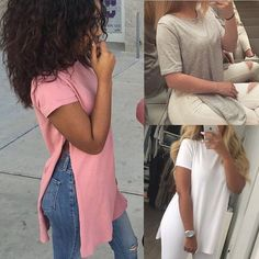 6ef98081d56f Fashion Women Summer Loose Top Short Sleeve Blouse Ladies Casual Tops T- Shirt Es