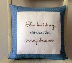 Shabby chic beach pillow
