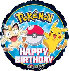 18 inches Birthday Pokemon Group Foil Balloon