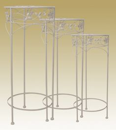 ROUND PLANT STANDS AVAILABLE IN SMALL, MEDIUM, LARGE (36655-57)