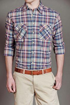 JackThreads - Alf L/S Plaid Woven Shirt