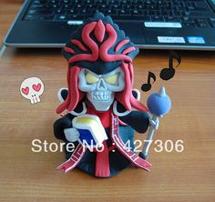Wholesale Grim Reaper Karthus Q Version Clay Action Figure Lightweight Clay Handmade Free Shipping