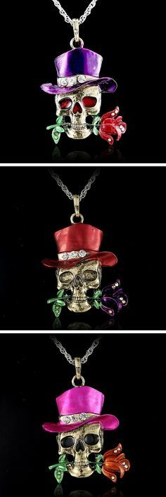 Love Skulls? Then this skull necklace is for you grab yours now at 50% off!