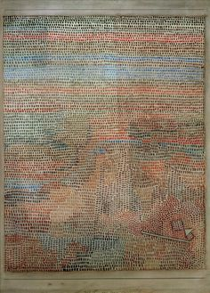 Paul Klee  'Das Ganze Dammernd' )(The Whole is Dimming)(or The Whole is Dawning [dammernd can be twilight,dusk or dawning g.s.]) 1932  Watercolor on paper on cardboard  40 x 31.4 cm