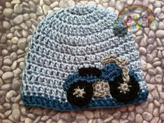 Baby Motorcycle Crochet Hat by BrightCrochet on Etsy, $23.00