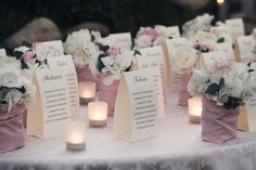 Tableau de mariage in rosa