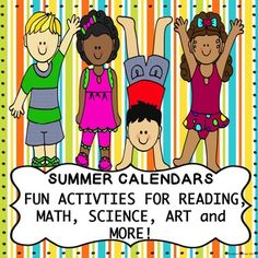 Do you need a great and fun way to encourage your kindergarten, first grade or second grade students to keep their academic skills sharp over the summer? Do you want them to have fun and enjoy their summer? Summer Calendars are the answer! Your students can use these calendars to practice skills in different subject areas, and have fun while doing it!
