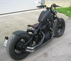 honda vt600 vlx custom with solo seat, murdered out