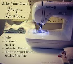 Make your own cloth diaper inserts/diaper doublers.
