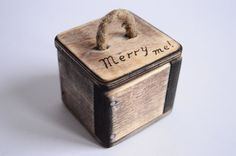 Proposal box Wooden box Merry me Ring box by WoodRestart on Etsy Beautiful wooden proposal box, ring box. Handmade from gorgeous lime wood and plywood. Each box is completely handmade and with precision to detail, made with care and love. It`s perfect as a proposal box or as an accent for your wedding. Add a touch of nature to your celebration. Size approximately: Length: 5.7 cm (2.22 in.) Width: 5.7 cm (2.22 in.) Height: 5.5 cm (2.14 in.)