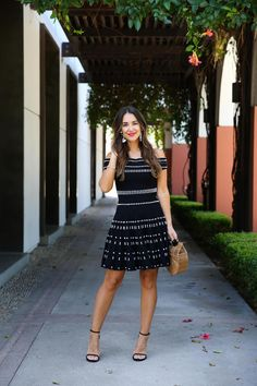 Black and white so cute for date night! Love Kathleen's style