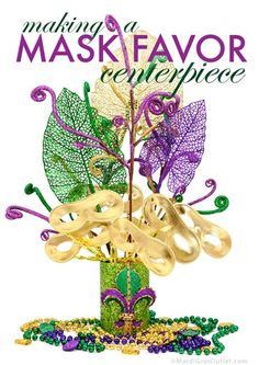 mardi gras party favors centerpiece ideas how to make tutorial making mask masquerade