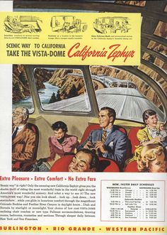 https://flic.kr/p/843BYv | Ad for California Zephyr 1949 | Terrific! I wonder what happened to this great looking train?