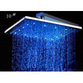 "10"" Square LED Rain Shower Head"