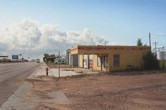 Rod Penner, Panhandle Service Station, Texline, Texas. Another fine example of an Isolation landscape.
