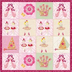 """Ballerina Quilt """"Perfectly Pink"""" pattern $10.60 on Craftsy at http://www.craftsy.com/pattern/quilting/home-decor/ballerina-quilt-perfectly-pink/58307"""