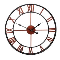 Large Modern Wall Clock - Krafts Brown | The Fancy Place Style Retro, Style Vintage, Large Vintage Wall Clocks, Oversized Clocks, Outdoor Wall Clocks, Home Clock, Gear Art, Clocks For Sale, Rustic Irons