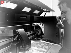 A fantastic day at Fabisimo® spent with our engineer Bruce fine tuning the printer.