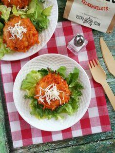 Paradicsomos spagettimuffin recept - Kifőztük, online gasztromagazin Muffin, Tacos, Curry, Meat, Chicken, Ethnic Recipes, Food, Curries, Essen