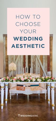 We recommend coming up with a cohesive scheme early on in the wedding planning process and using it to guide all subsequent style choices from gown to centerpieces to cake topper. Here are a few key elements to consider and important steps to take when choosing your wedding aesthetic! {Jennifer Weems Photography}