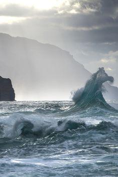 sea, ocean, and waves Bild Water Waves, Sea Waves, Sea And Ocean, Ocean Beach, Nature Sauvage, All Nature, Am Meer, Sea Creatures, Beautiful World