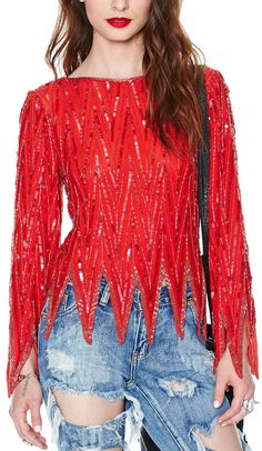 Raquel Sequin Top, I LOVE the color and triangle bottom cut but the square neckline is boreing....it needs fierce v-neck