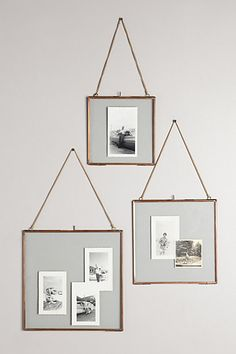 hanging frames in gold #anthrofave