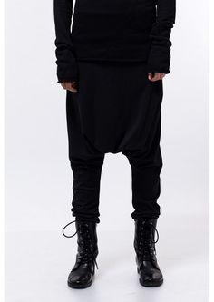 Black drop crotch pants / Black harem pants / Black loose pants / Black  yoga pants / urban style pants / black sweatpants