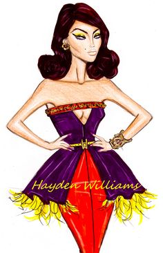 fashion sketch by hayden williams