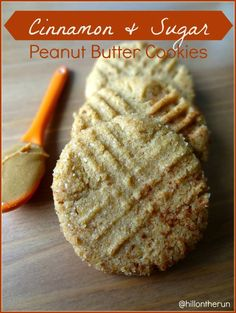 Cinnamon Sugar Peanut Butter Cookies - Nutrition Nut on the Run