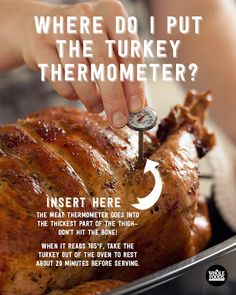 Q Where Do I Put The Thermometer In A Turkey A The Thickest Part Of The Thigh Check For A
