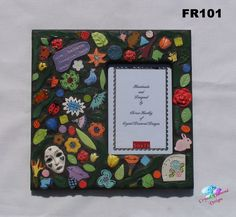 On SALE!!! 15% OFF!! FLOWER PHOTO FRAME or a MIRROR- HANDMADE MOSAIC