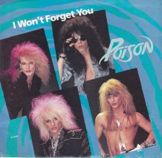 "Poison / I Won't Forget You / Blame It On You / 7"" Vinyl 45 RPM Jukebox Record & Picture Sleeve / Bret Michaels"